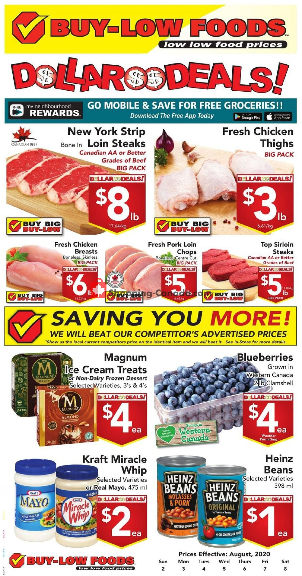 Flyer Buy-Low Foods Canada - from Sunday August 2, 2020 to Saturday August 8, 2020