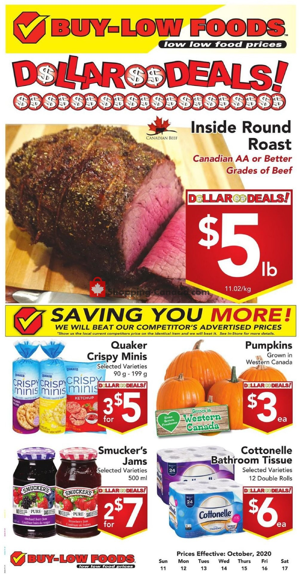 Flyer Buy-Low Foods Canada - from Sunday October 11, 2020 to Saturday October 17, 2020