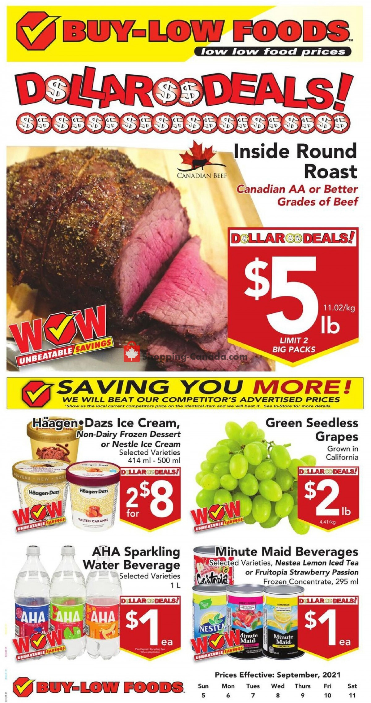 Flyer Buy-Low Foods Canada - from Sunday September 5, 2021 to Saturday September 11, 2021
