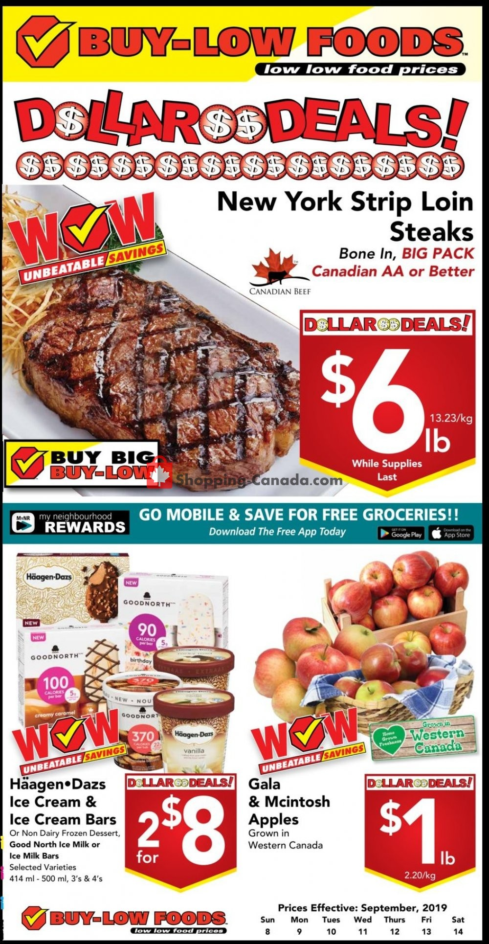 Flyer Buy-Low Foods Canada - from Sunday September 8, 2019 to Saturday September 14, 2019