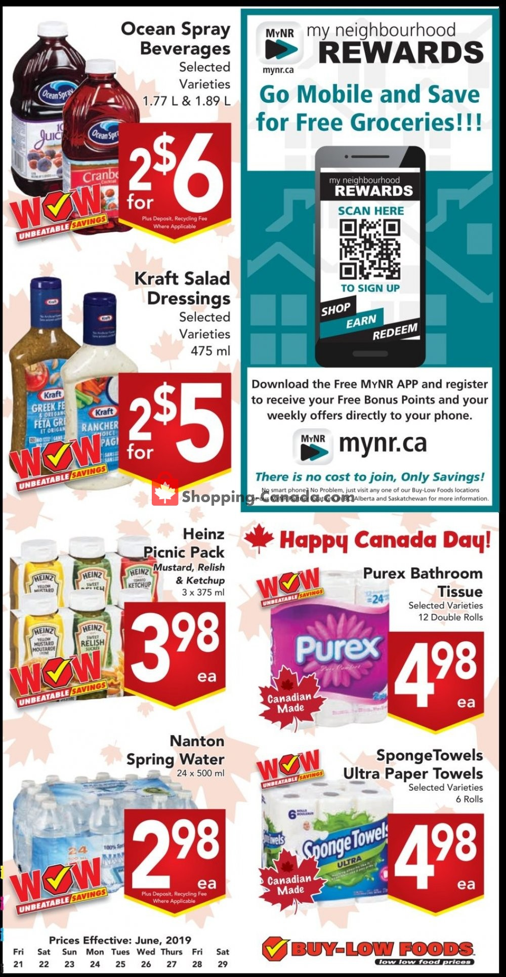 Flyer Buy-Low Foods Canada - from Friday June 21, 2019 to Saturday June 29, 2019