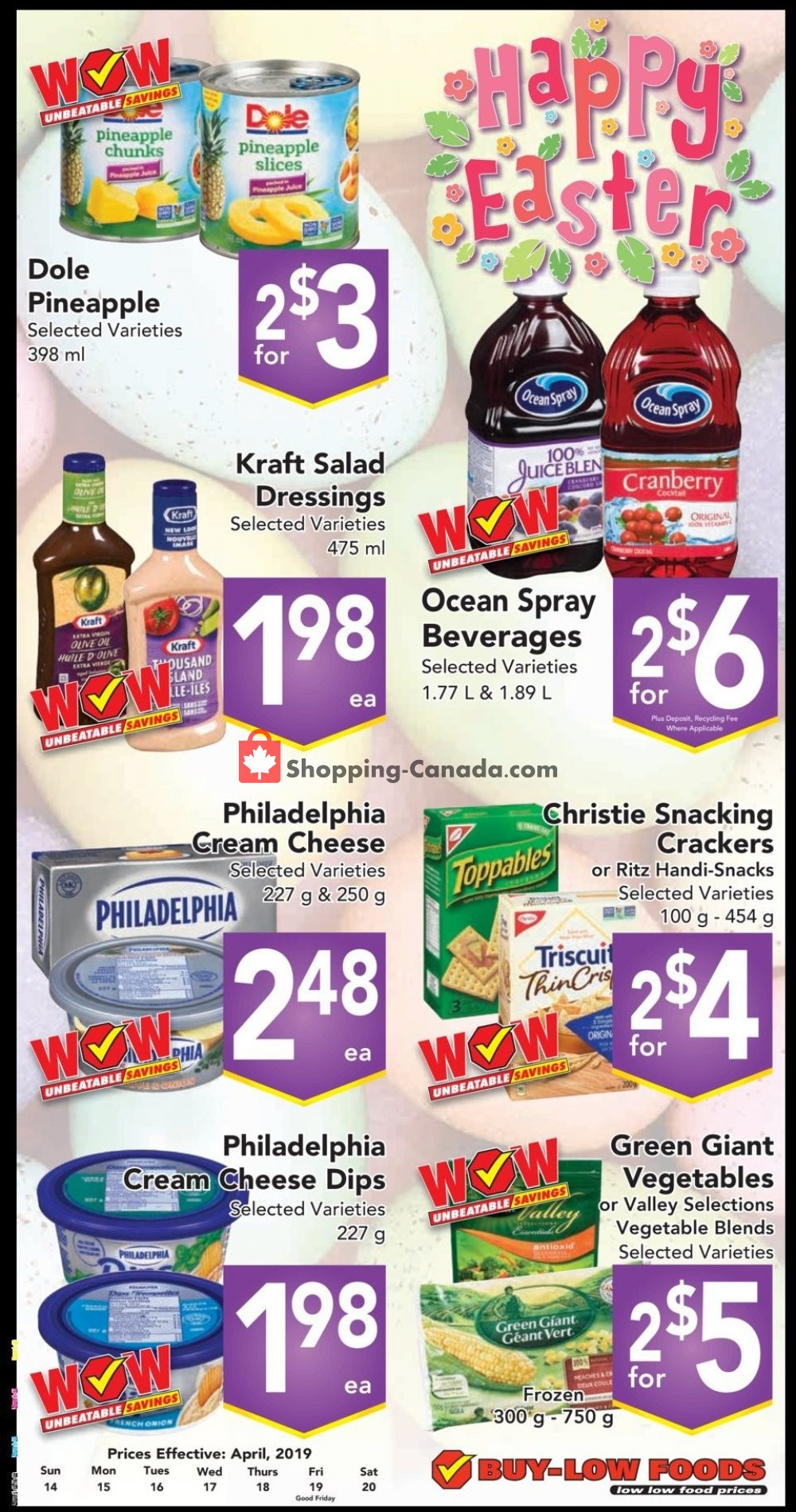 Flyer Buy-Low Foods Canada - from Sunday April 14, 2019 to Saturday April 20, 2019