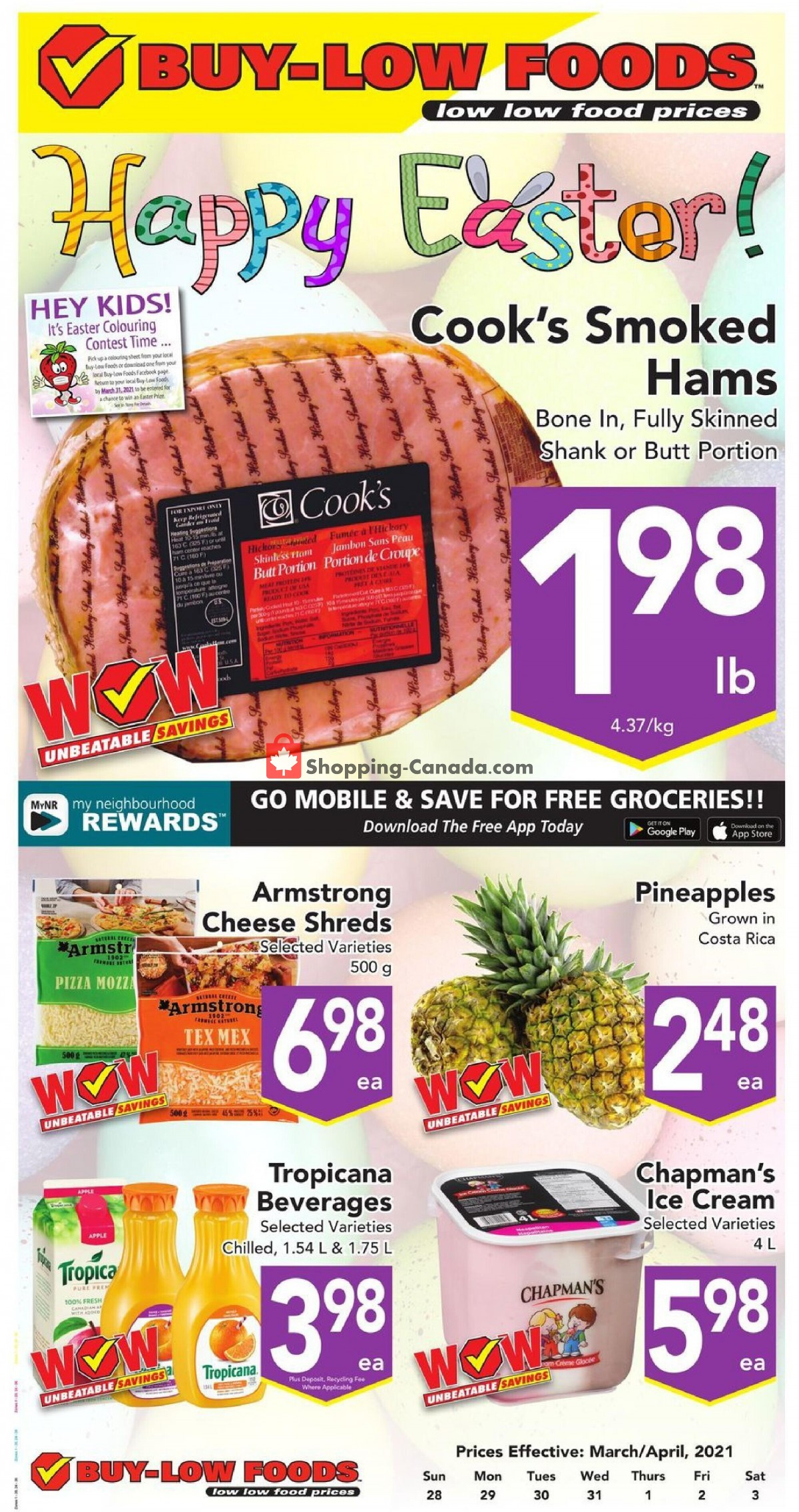 Flyer Buy-Low Foods Canada - from Sunday March 28, 2021 to Saturday April 3, 2021