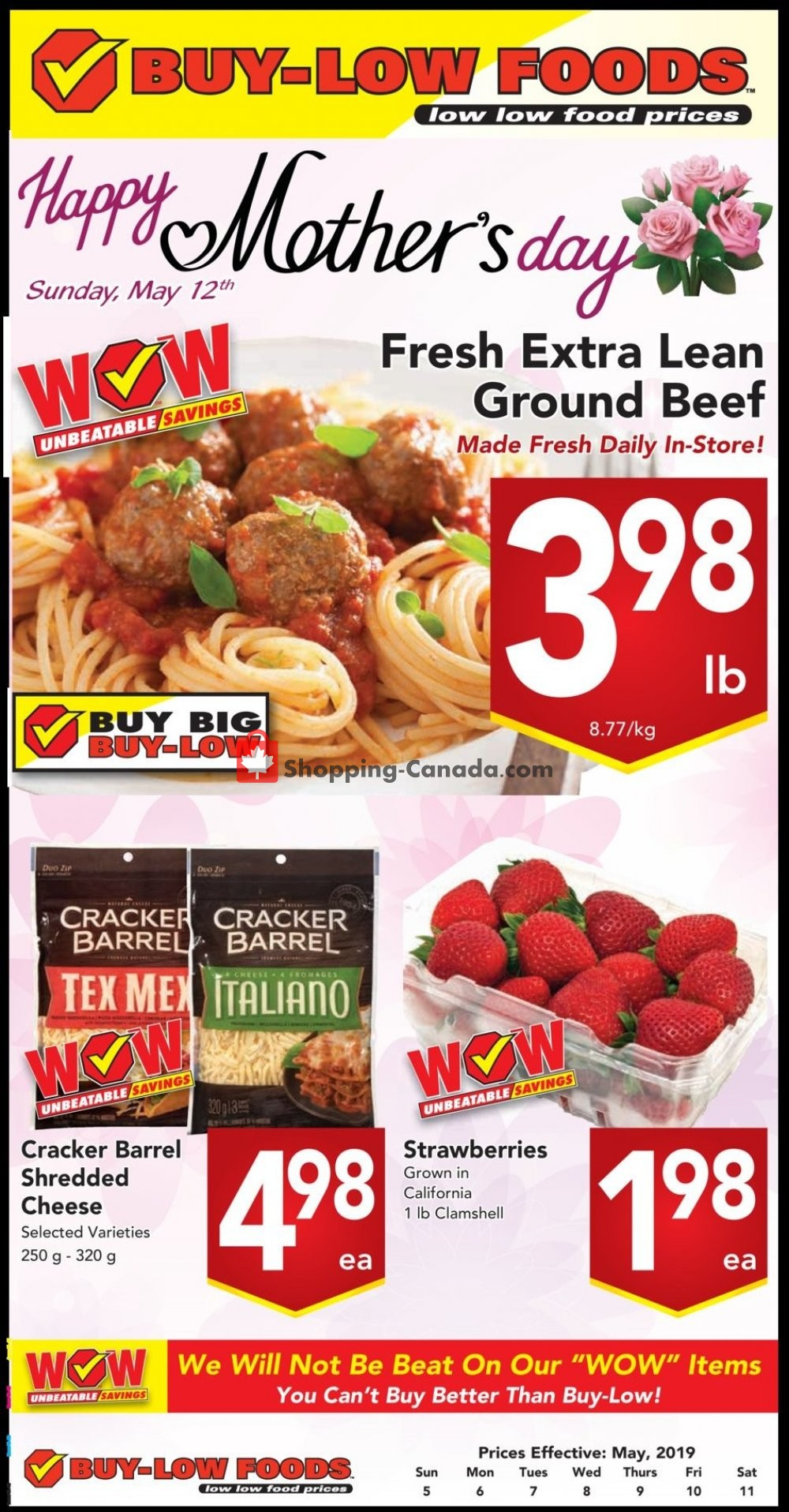 Flyer Buy-Low Foods Canada - from Sunday May 5, 2019 to Saturday May 11, 2019