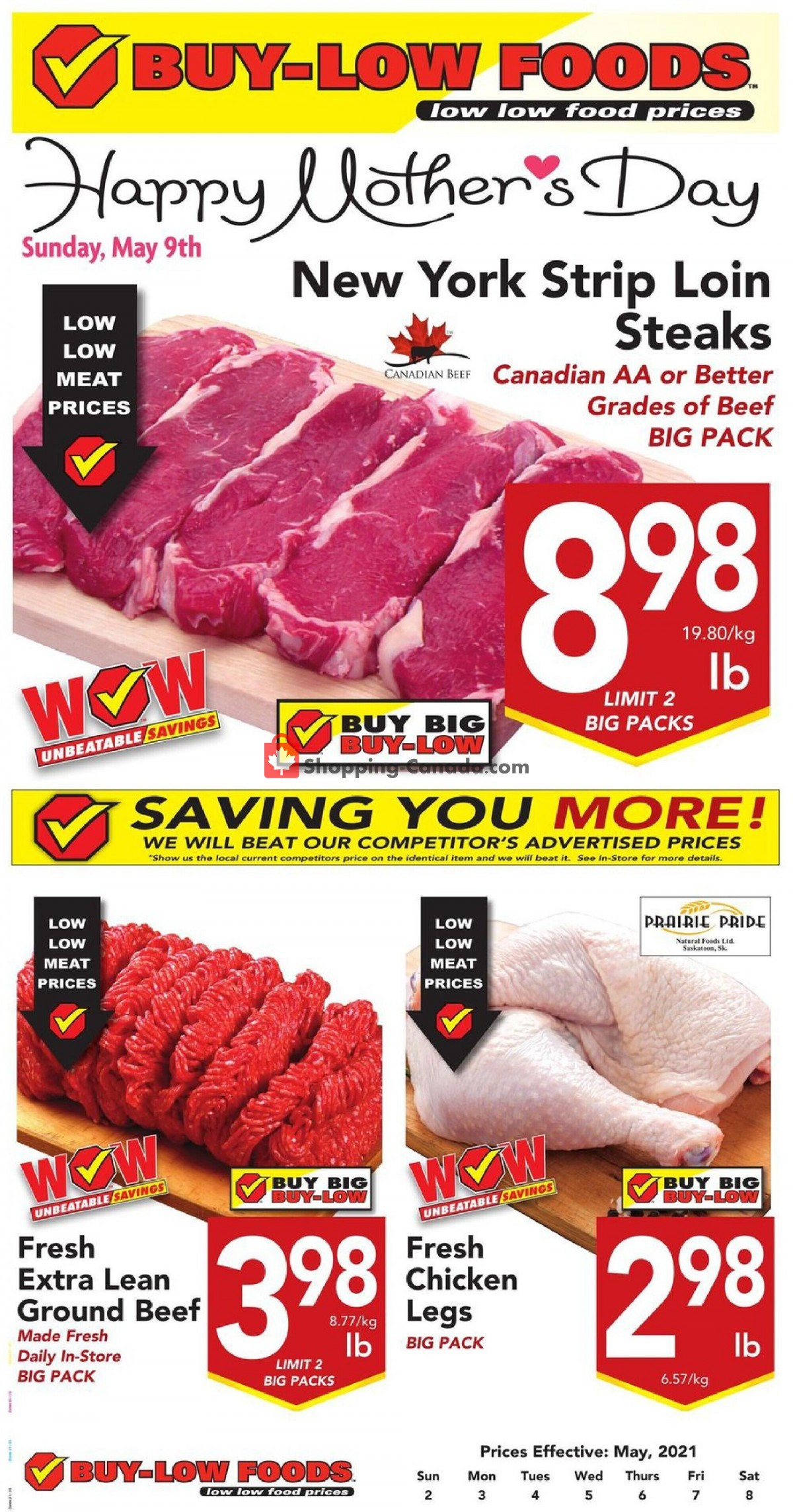 Flyer Buy-Low Foods Canada - from Sunday May 2, 2021 to Saturday May 8, 2021