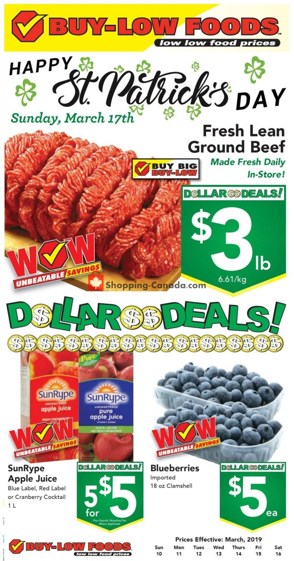 Flyer Buy-Low Foods Canada - from Sunday March 10, 2019 to Saturday March 16, 2019