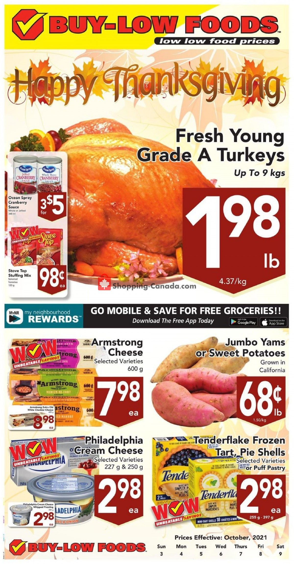 Flyer Buy-Low Foods Canada - from Sunday October 3, 2021 to Saturday October 9, 2021