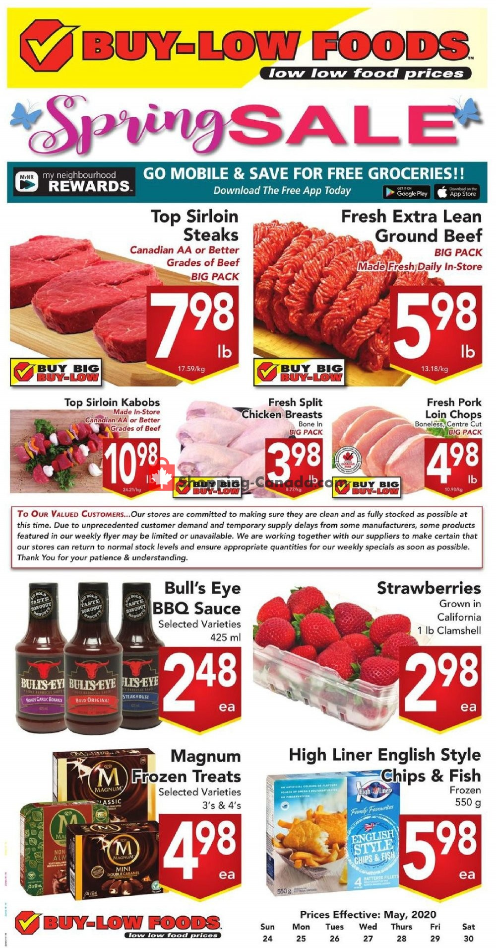 Flyer Buy-Low Foods Canada - from Sunday May 24, 2020 to Saturday May 30, 2020
