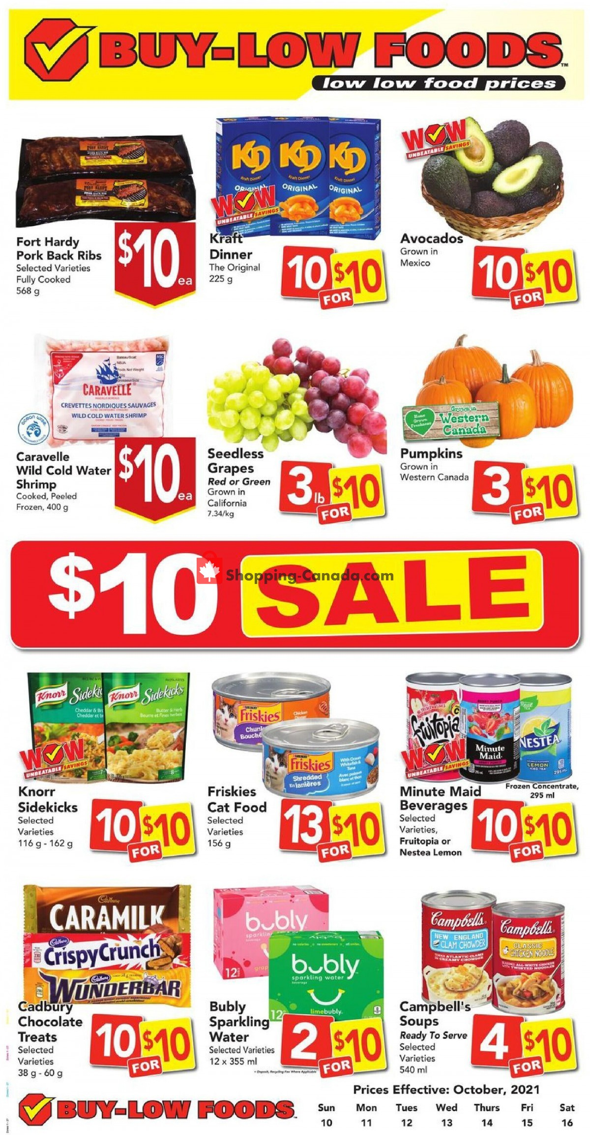 Flyer Buy-Low Foods Canada - from Sunday October 10, 2021 to Saturday October 16, 2021