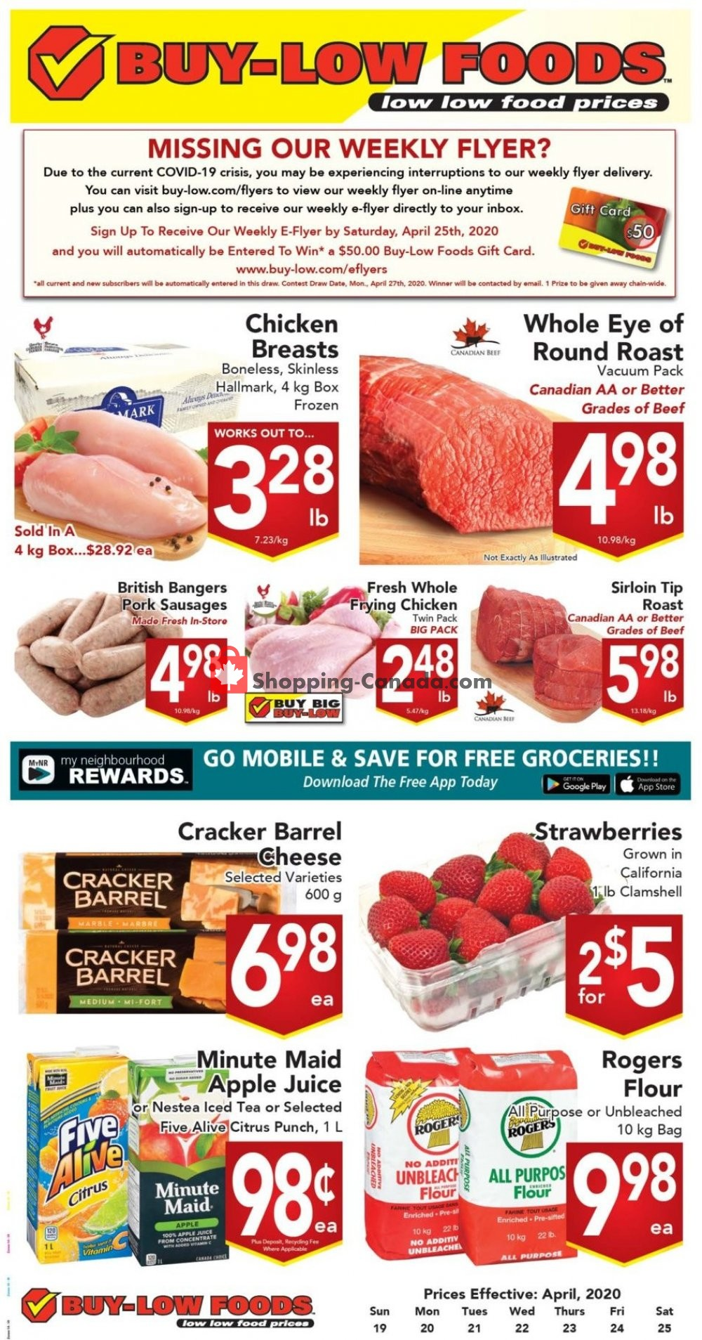 Flyer Buy-Low Foods Canada - from Sunday April 19, 2020 to Saturday April 25, 2020