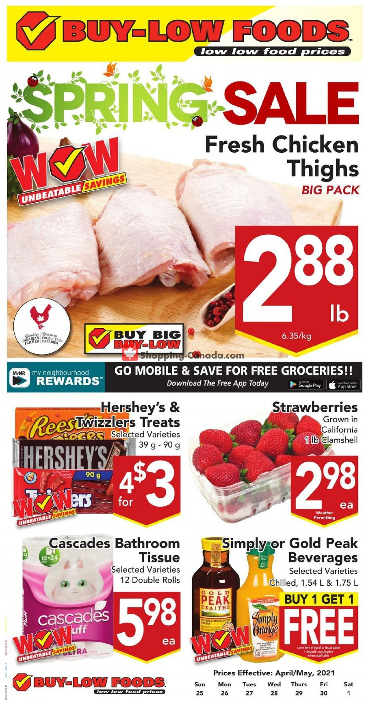 Flyer Buy-Low Foods Canada - from Sunday April 25, 2021 to Saturday May 1, 2021