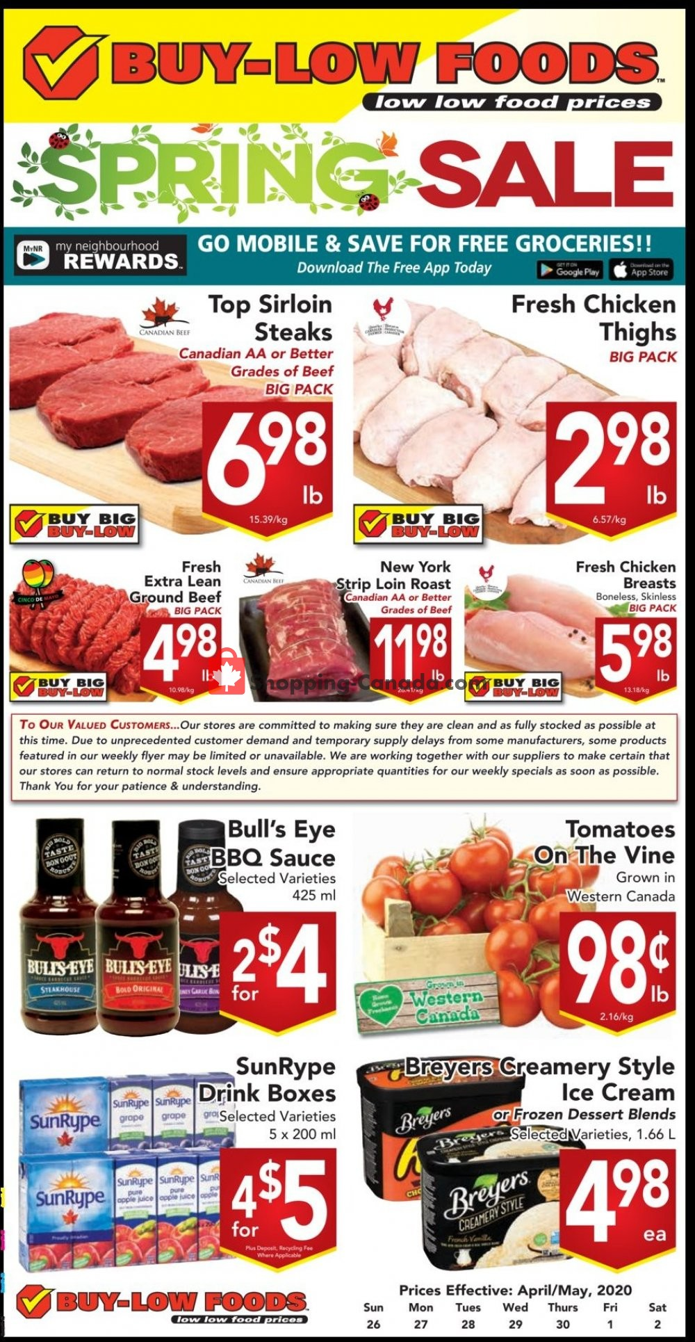 Flyer Buy-Low Foods Canada - from Sunday April 26, 2020 to Saturday May 2, 2020