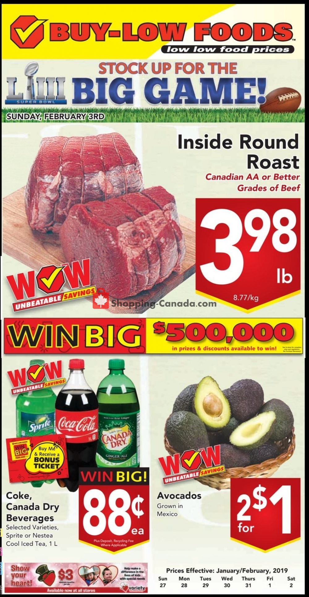 Flyer Buy-Low Foods Canada - from Sunday January 27, 2019 to Saturday February 2, 2019
