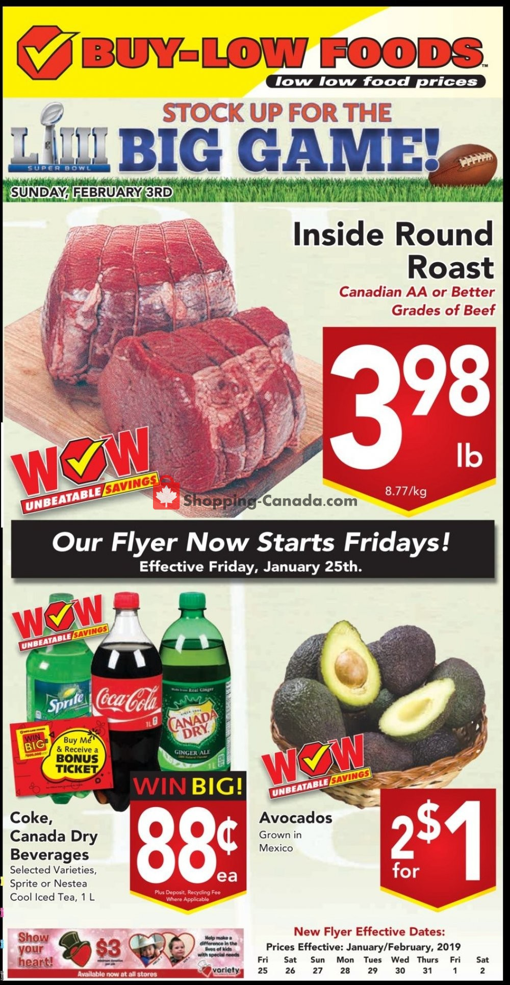 Flyer Buy-Low Foods Canada - from Friday January 25, 2019 to Saturday February 2, 2019