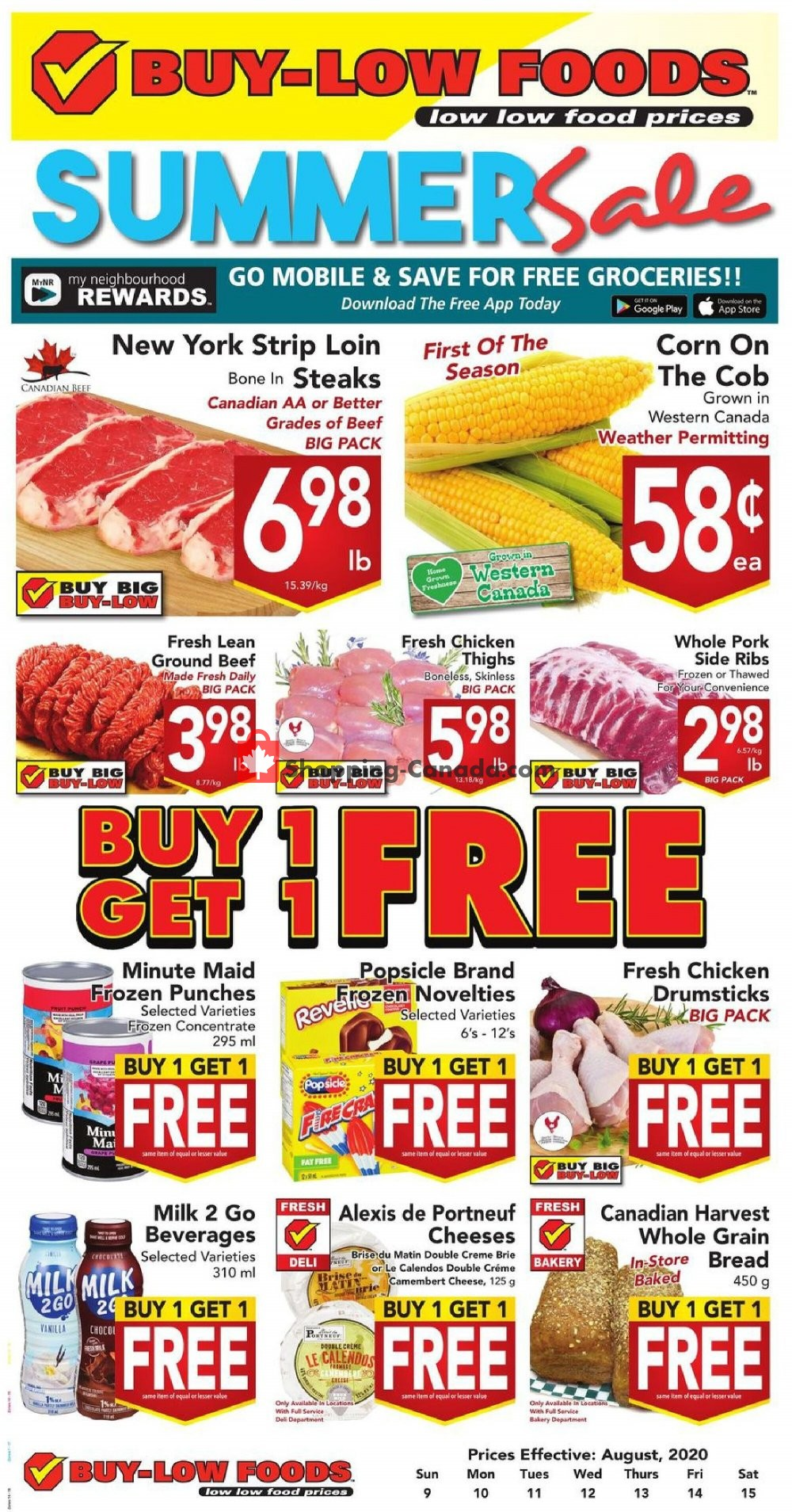 Flyer Buy-Low Foods Canada - from Sunday August 9, 2020 to Saturday August 15, 2020