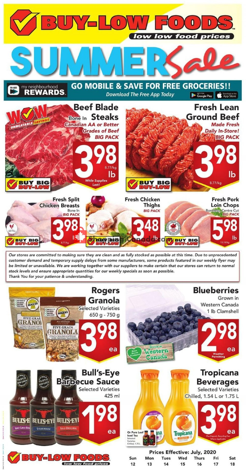Flyer Buy-Low Foods Canada - from Sunday July 12, 2020 to Saturday July 18, 2020