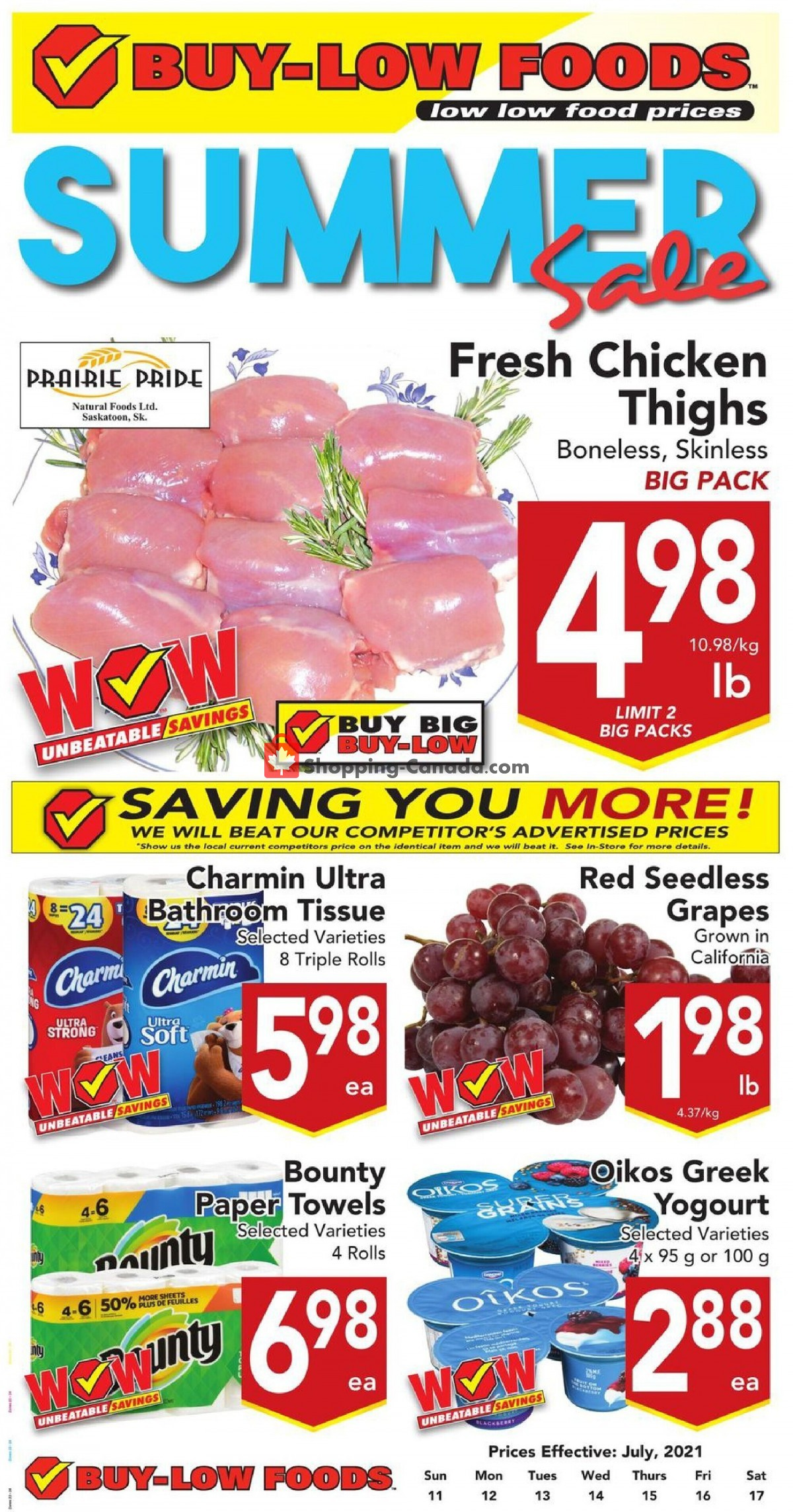 Flyer Buy-Low Foods Canada - from Sunday July 11, 2021 to Saturday July 17, 2021
