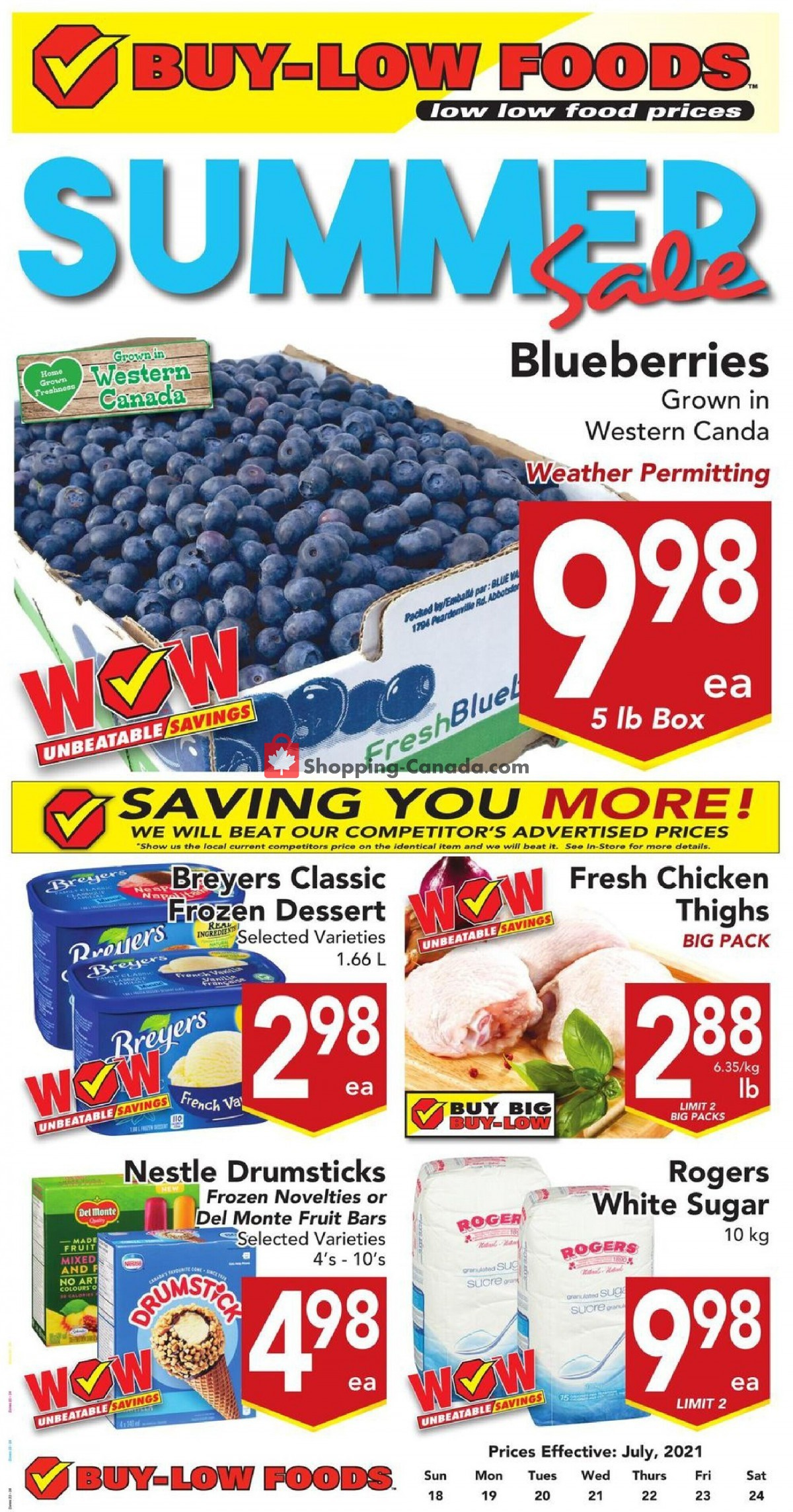 Flyer Buy-Low Foods Canada - from Sunday July 18, 2021 to Saturday July 24, 2021