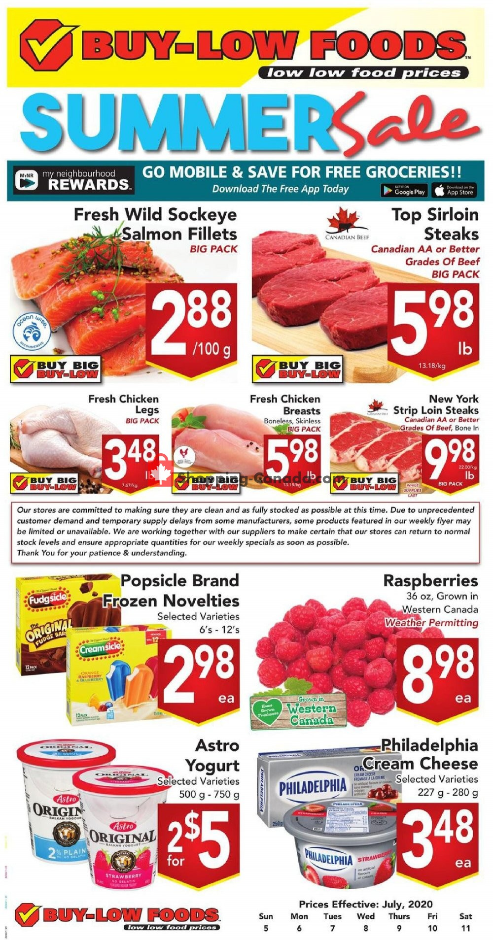 Flyer Buy-Low Foods Canada - from Sunday July 5, 2020 to Saturday July 11, 2020