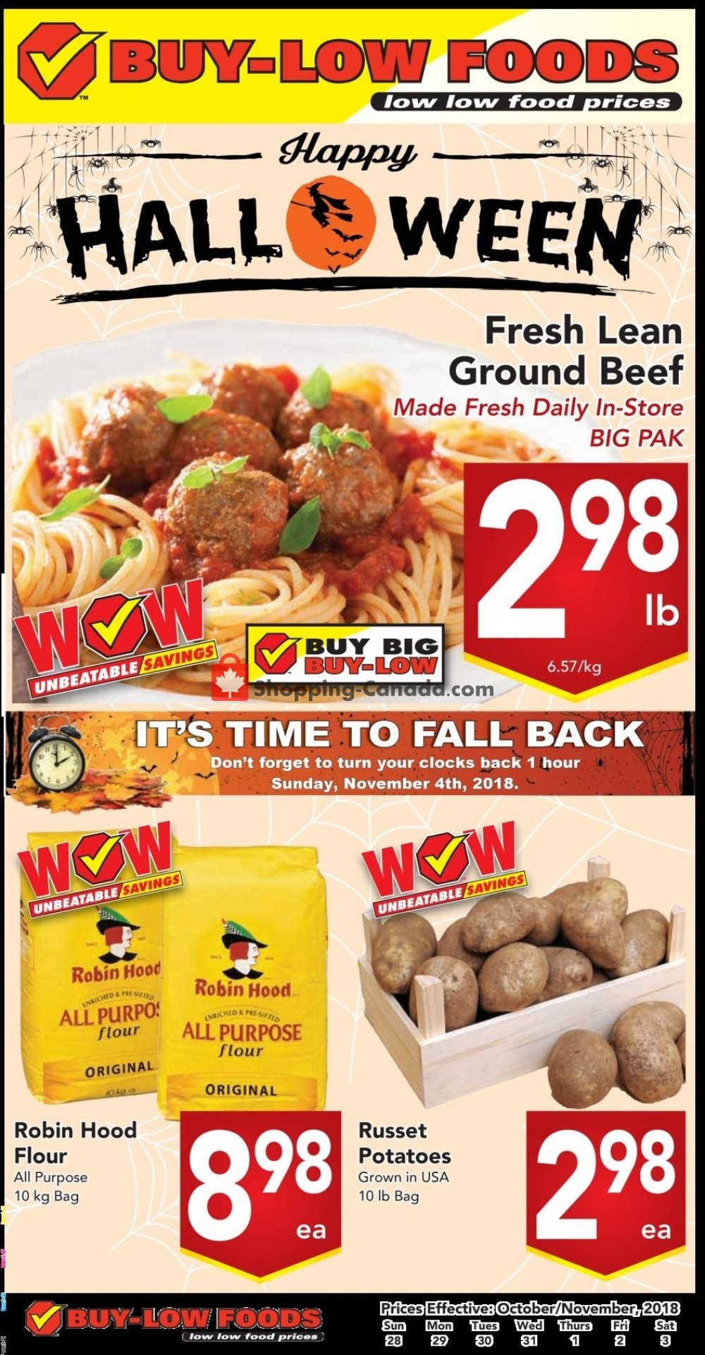 Flyer Buy-Low Foods Canada - from Sunday October 28, 2018 to Saturday November 3, 2018