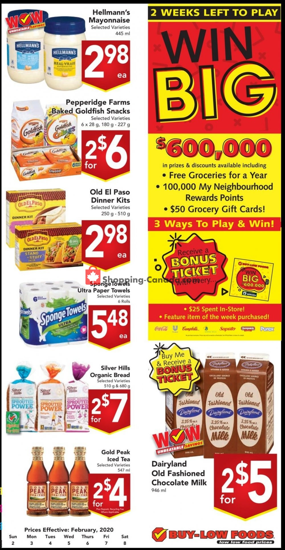 Flyer Buy-Low Foods Canada - from Sunday February 2, 2020 to Saturday February 8, 2020