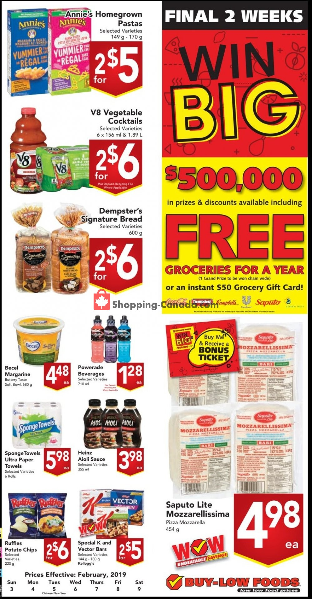 Flyer Buy-Low Foods Canada - from Sunday February 3, 2019 to Saturday February 9, 2019