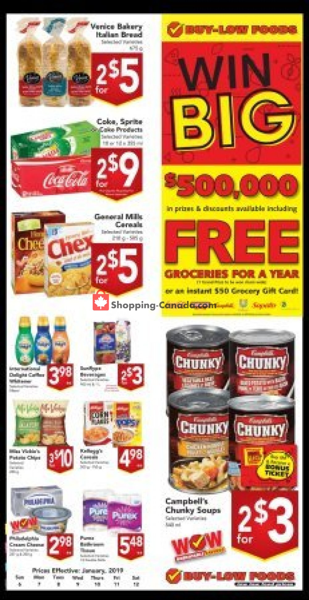 Flyer and weekly ads: Buy-Low Foods Canada - (Win Big