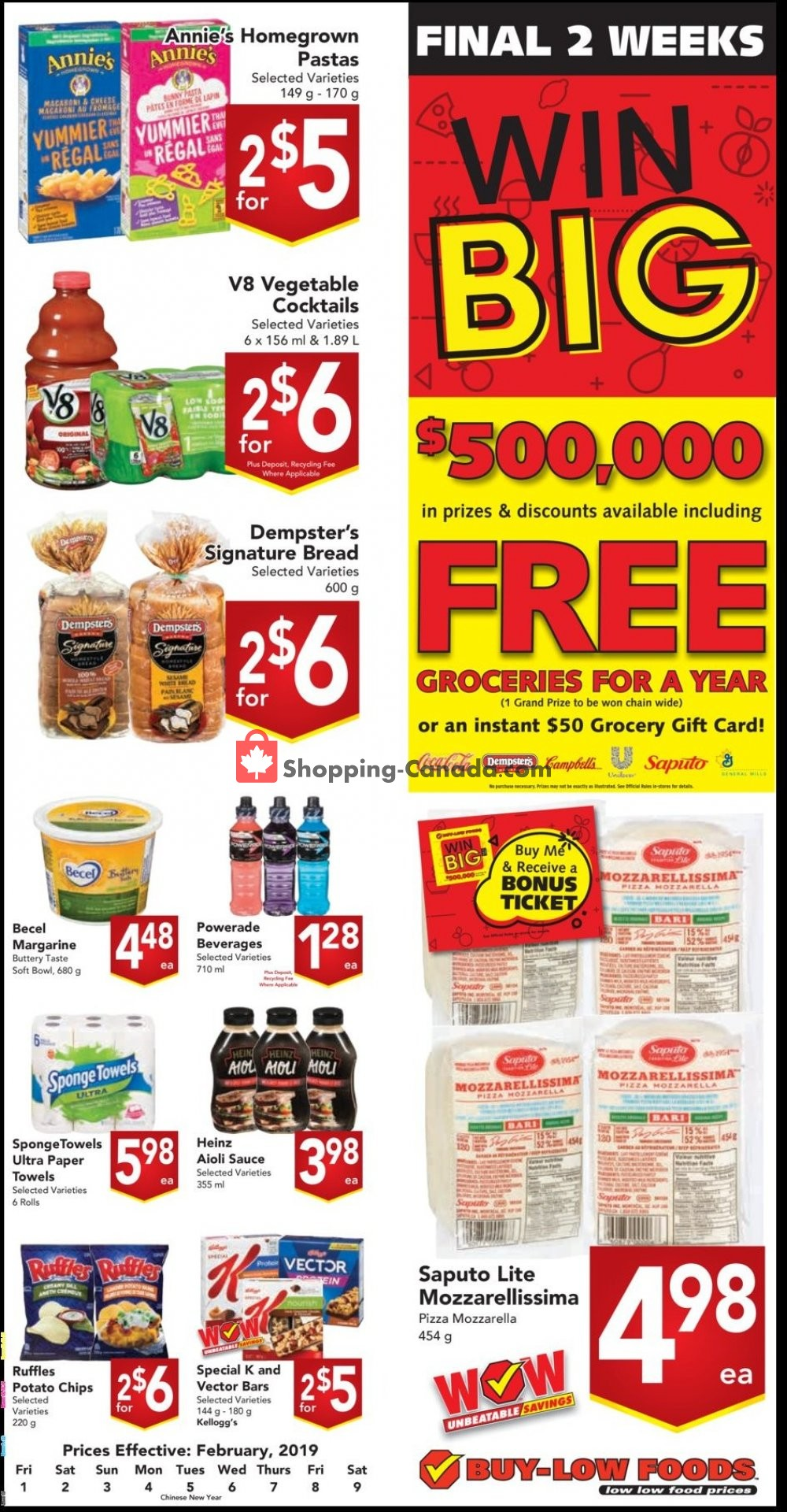 Flyer Buy-Low Foods Canada - from Friday February 1, 2019 to Saturday February 9, 2019