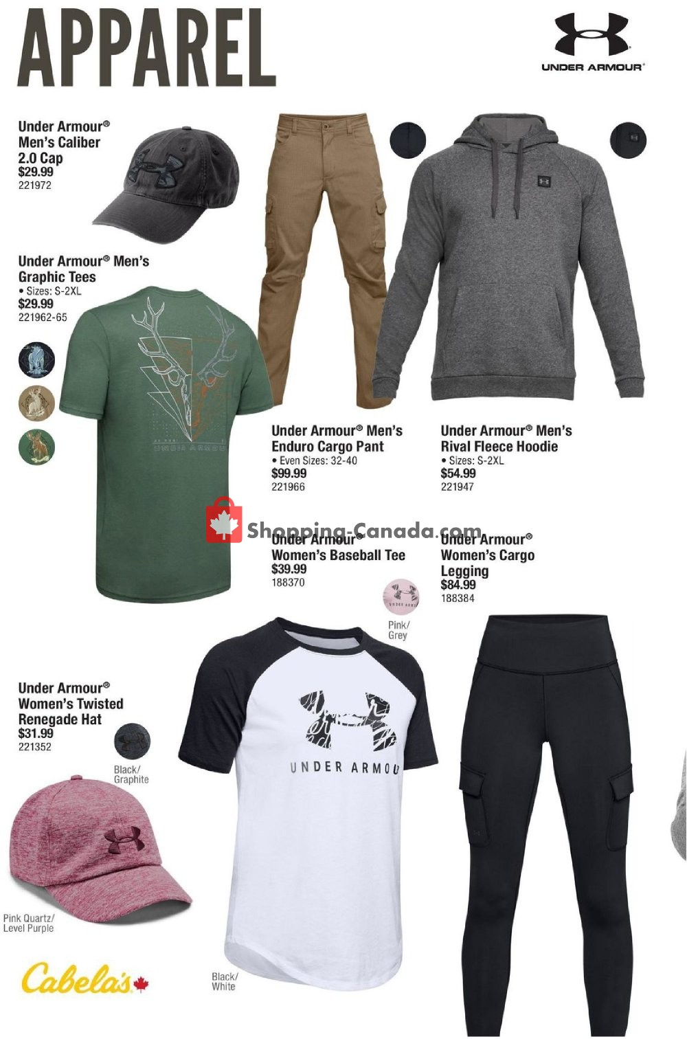 Flyer Cabela's Canada - from Thursday August 8, 2019 to Sunday August 18, 2019
