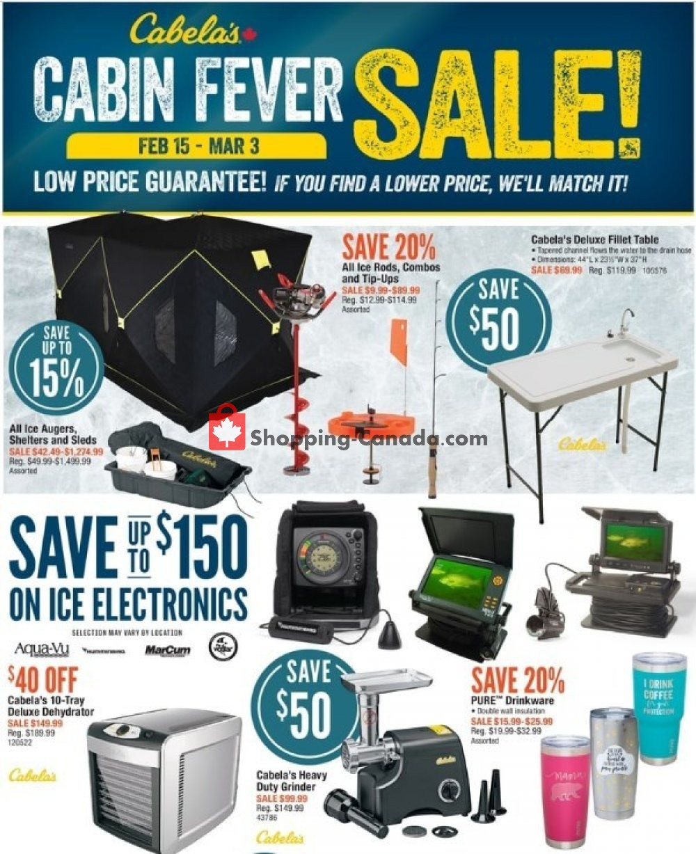 Flyer Cabela's Canada - from Friday February 15, 2019 to Sunday March 3, 2019