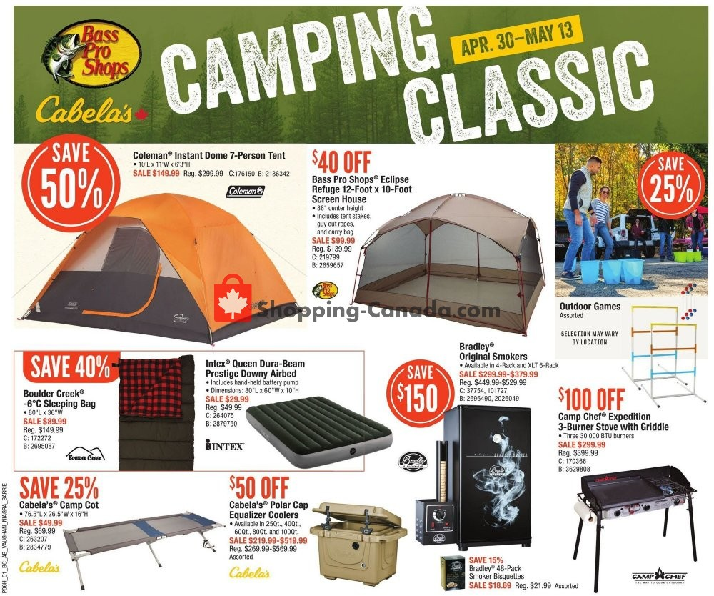 Flyer Cabela's Canada - from Thursday April 30, 2020 to Wednesday May 13, 2020