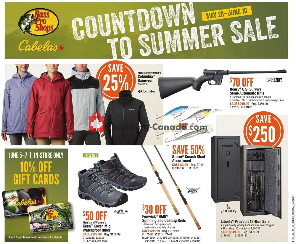 Flyer Cabela's Canada - from Thursday May 28, 2020 to Wednesday June 10, 2020