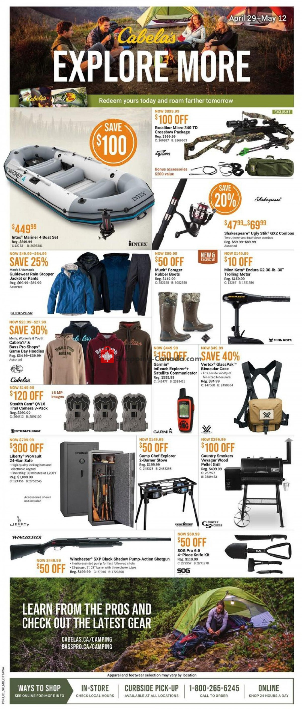 Flyer Cabela's Canada - from Thursday April 29, 2021 to Wednesday May 12, 2021