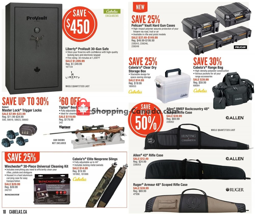 Flyer Cabela's Canada - from Friday August 9, 2019 to Sunday August 25, 2019