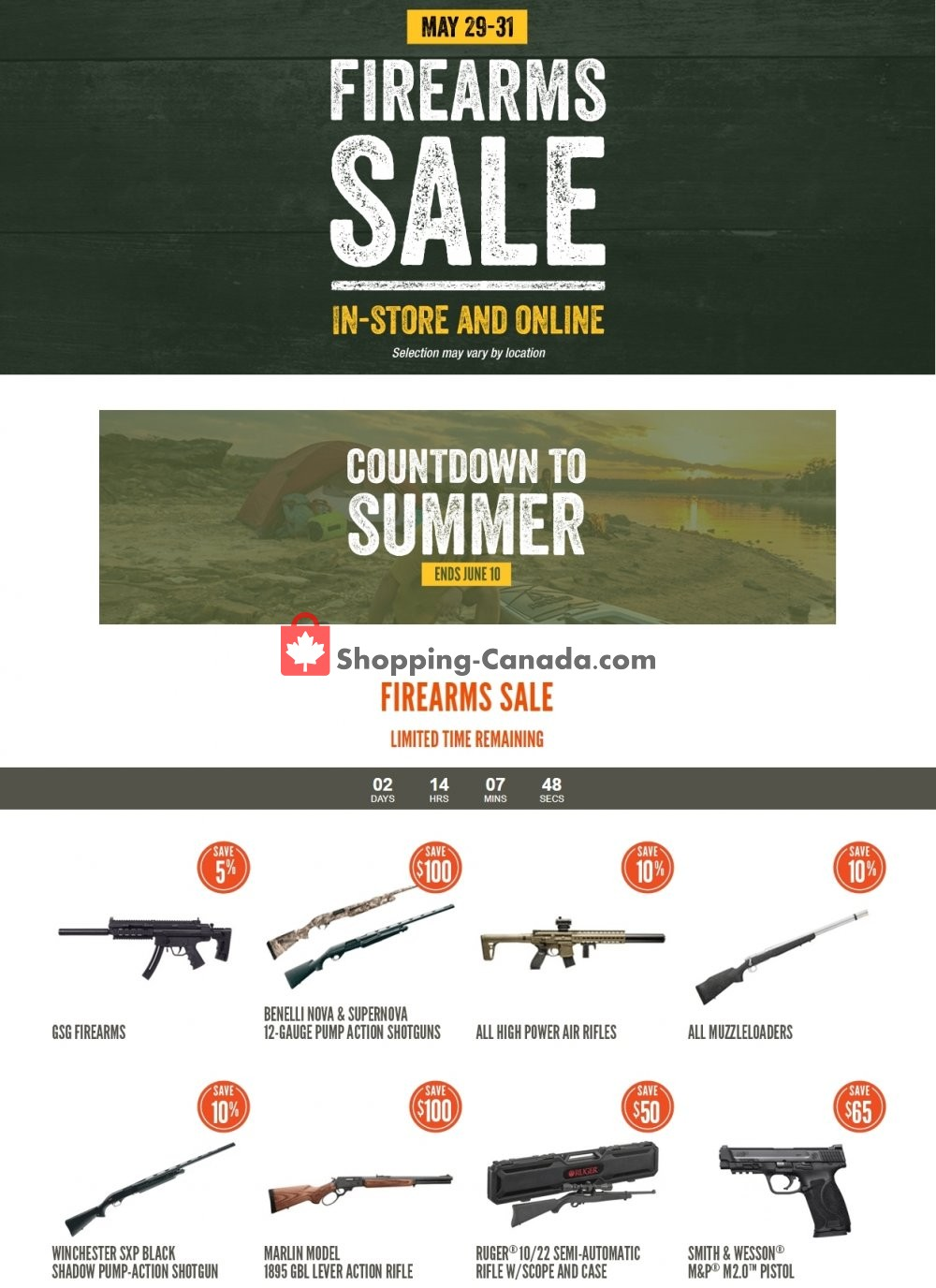 Flyer Cabela's Canada - from Friday May 29, 2020 to Sunday May 31, 2020