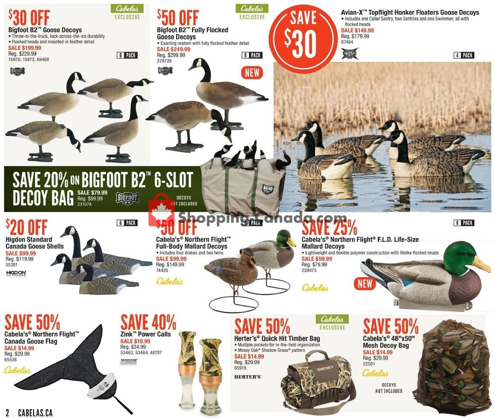 Flyer Cabela's Canada - from Thursday September 5, 2019 to Sunday September 22, 2019