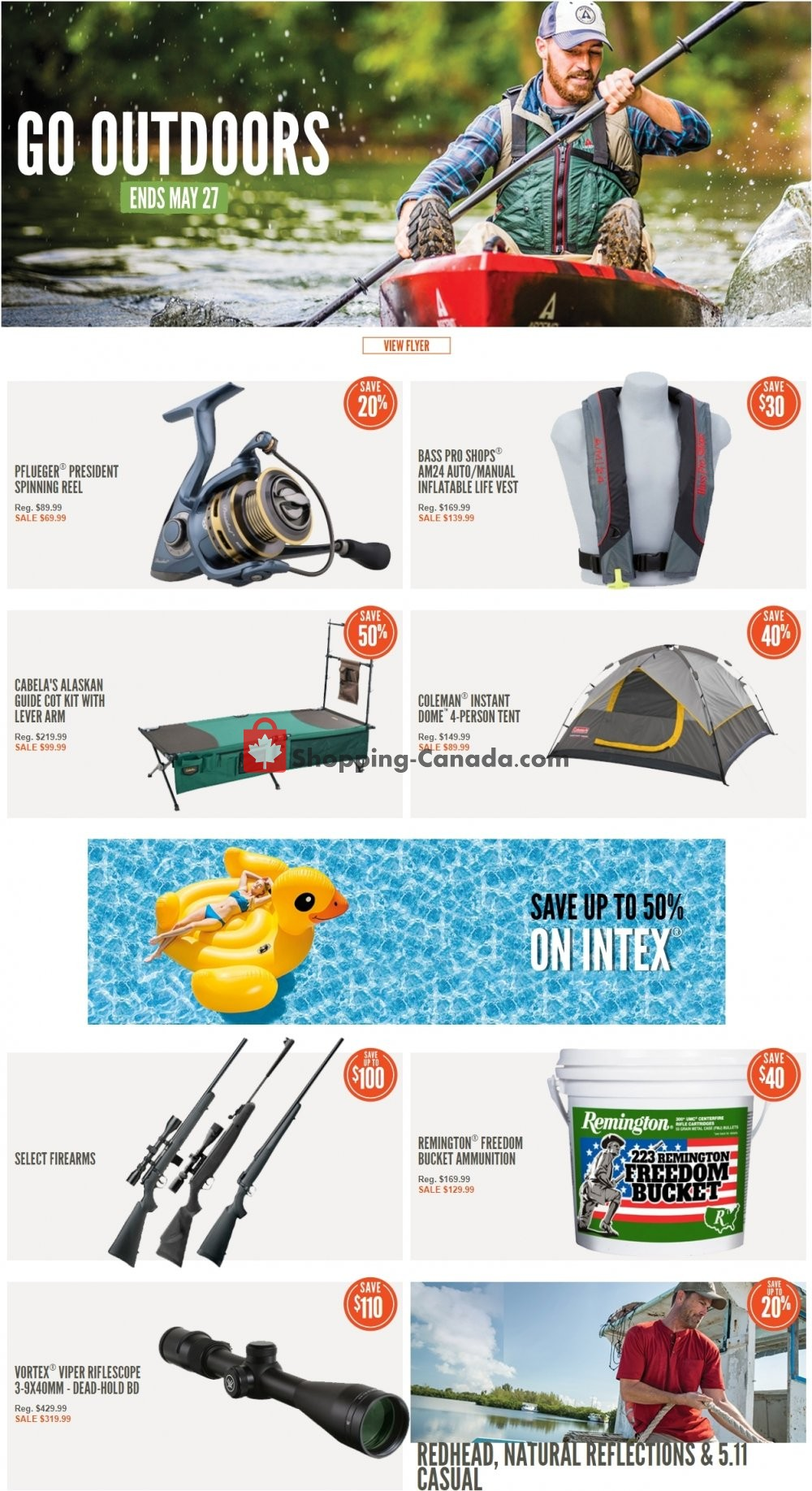 Flyer Cabela's Canada - from Tuesday May 21, 2019 to Monday May 27, 2019