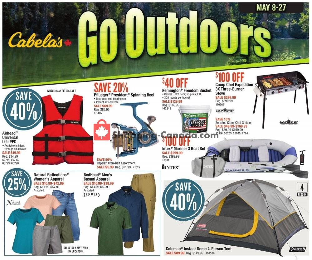 Flyer Cabela's Canada - from Wednesday May 8, 2019 to Monday May 27, 2019