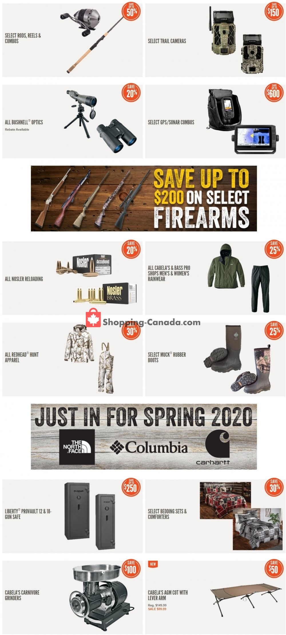 Flyer Cabela's Canada - from Friday April 24, 2020 to Thursday April 30, 2020