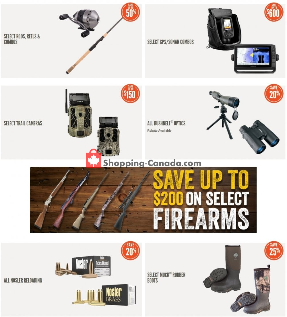 Flyer Cabela's Canada - from Wednesday April 29, 2020 to Tuesday May 5, 2020