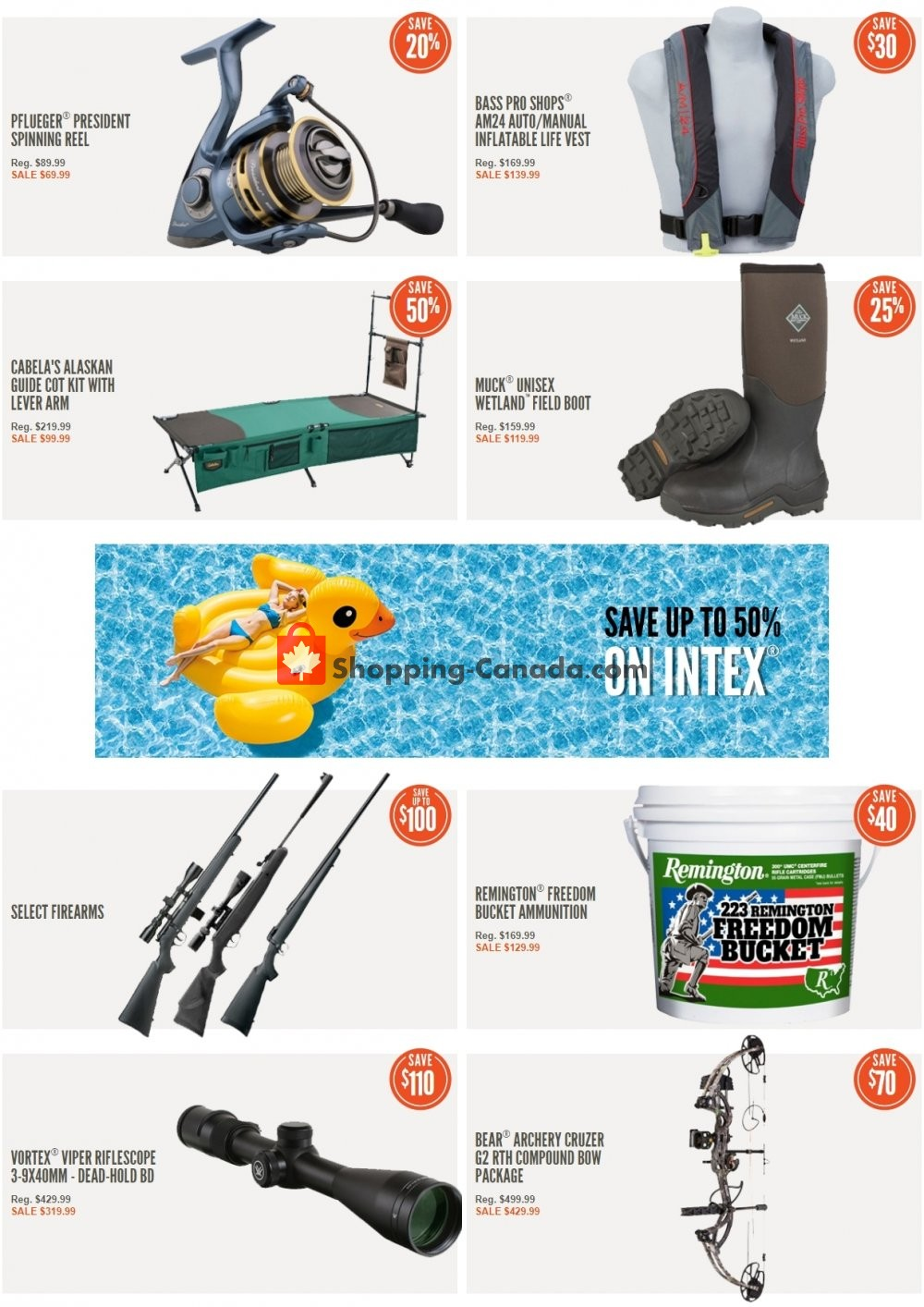 Flyer Cabela's Canada - from Sunday May 12, 2019 to Saturday May 18, 2019