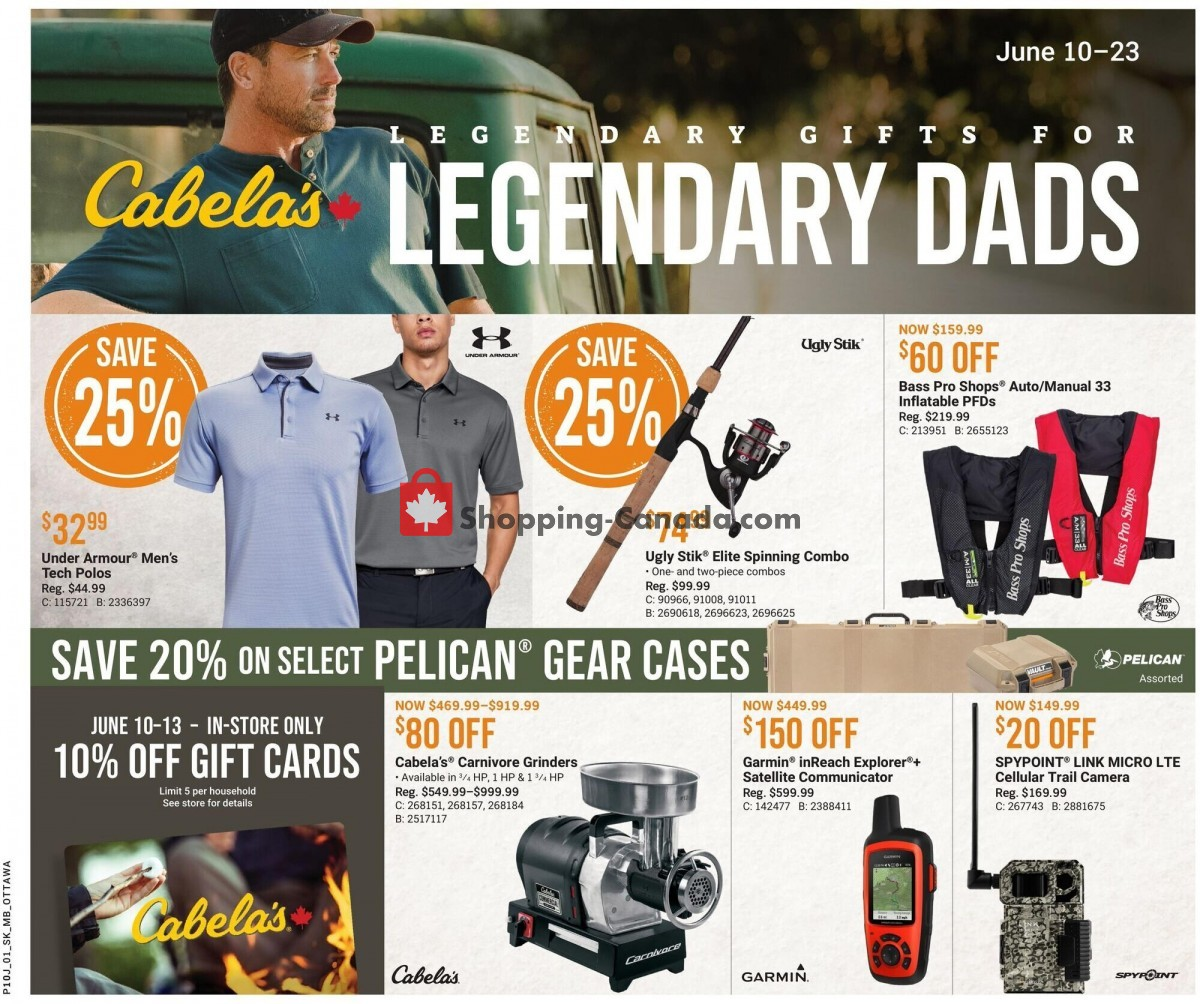 Flyer Cabela's Canada - from Thursday June 10, 2021 to Wednesday June 23, 2021
