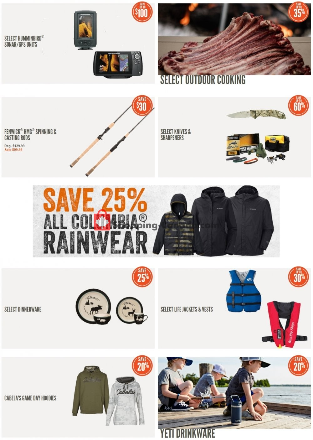 Flyer Cabela's Canada - from Tuesday June 2, 2020 to Monday June 8, 2020