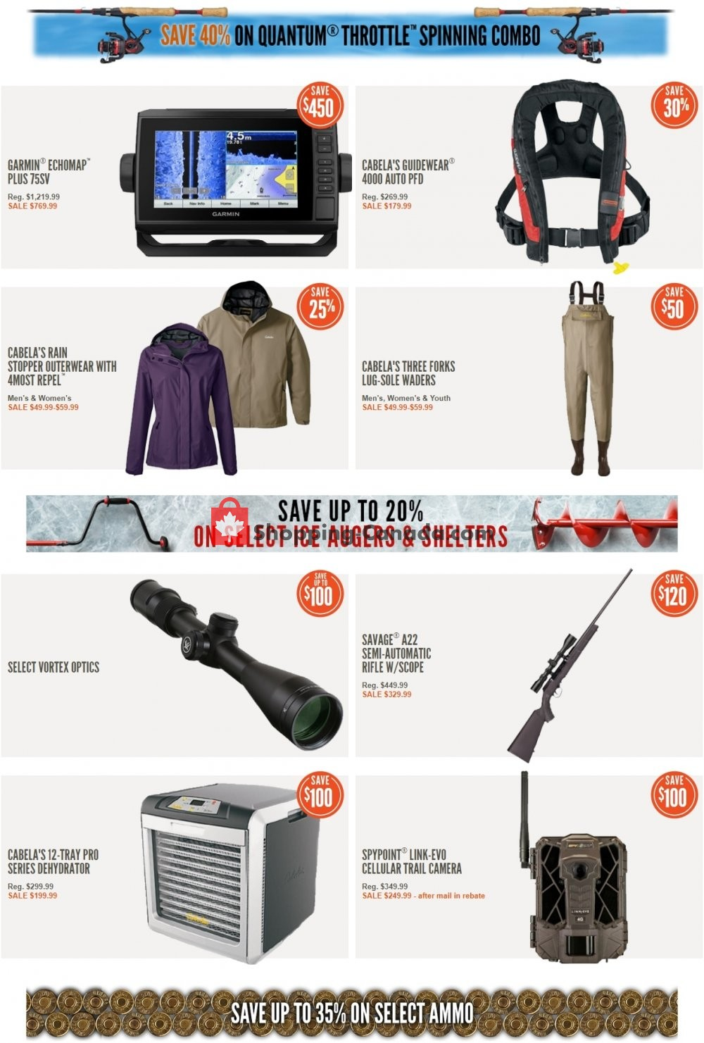 Flyer Cabela's Canada - from Tuesday March 12, 2019 to Monday March 18, 2019
