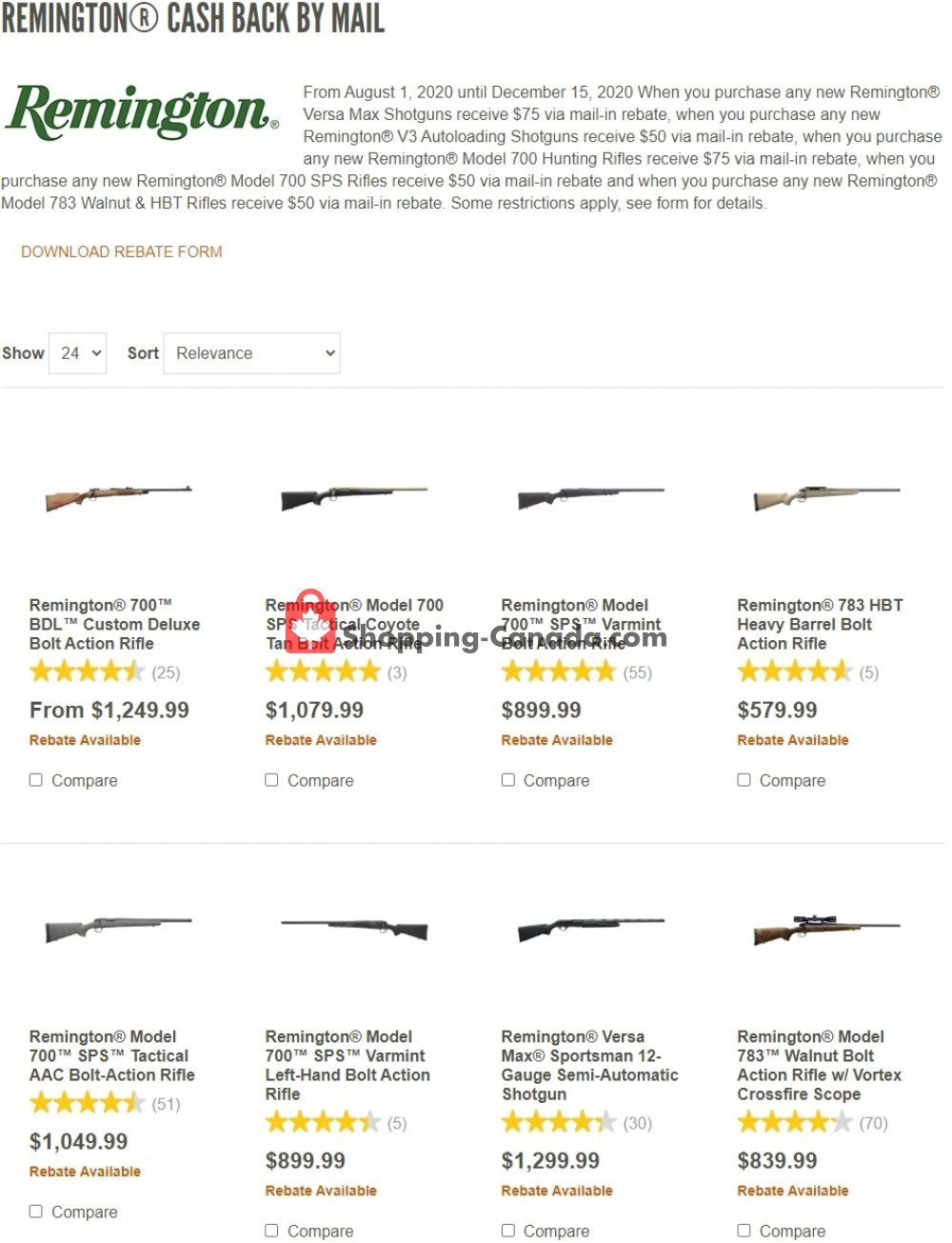 Flyer Cabela's Canada - from Saturday August 1, 2020 to Tuesday December 15, 2020