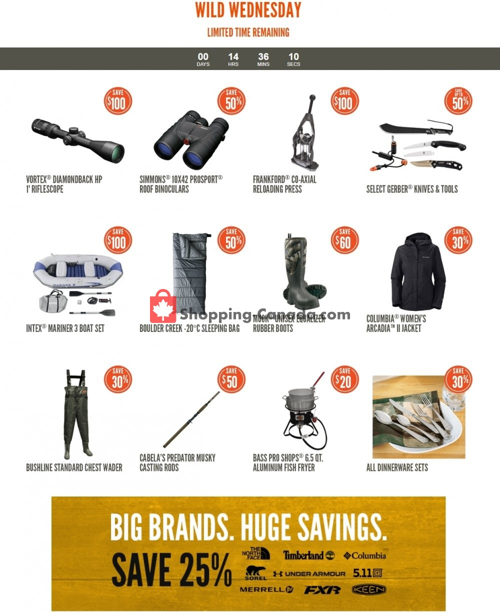 Flyer Cabela's Canada - from Wednesday April 29, 2020 to Wednesday April 29, 2020