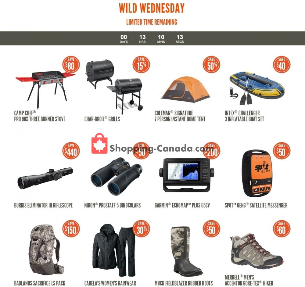 Flyer Cabela's Canada - from Wednesday May 27, 2020 to Wednesday May 27, 2020