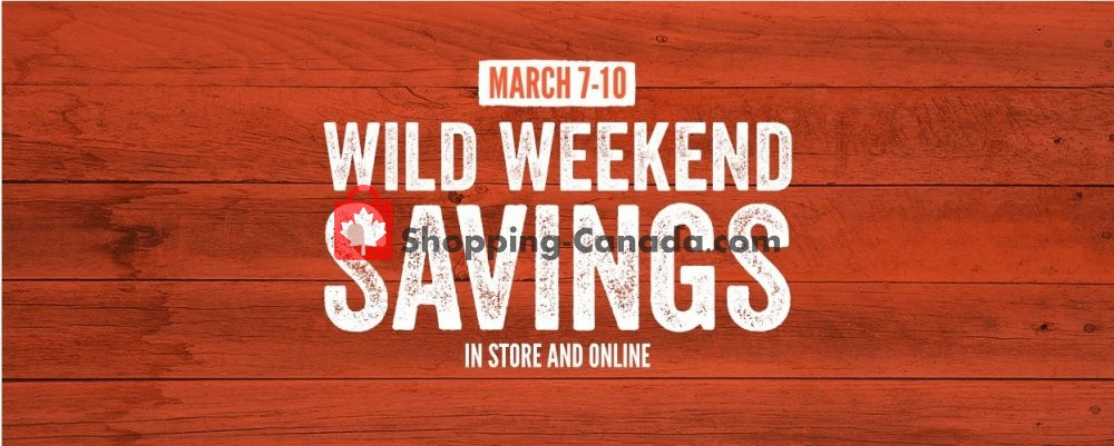 Flyer Cabela's Canada - from Thursday March 7, 2019 to Sunday March 10, 2019