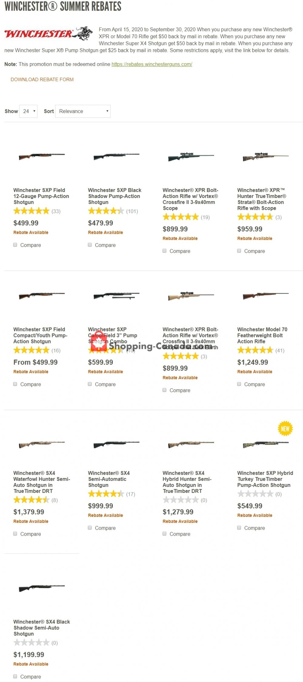 Flyer Cabela's Canada - from Wednesday April 15, 2020 to Wednesday September 30, 2020