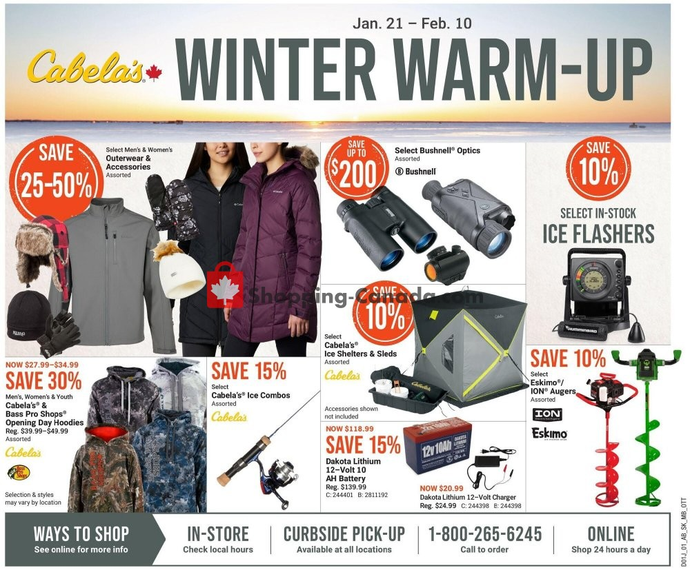 Flyer Cabela's Canada - from Thursday January 21, 2021 to Wednesday February 10, 2021